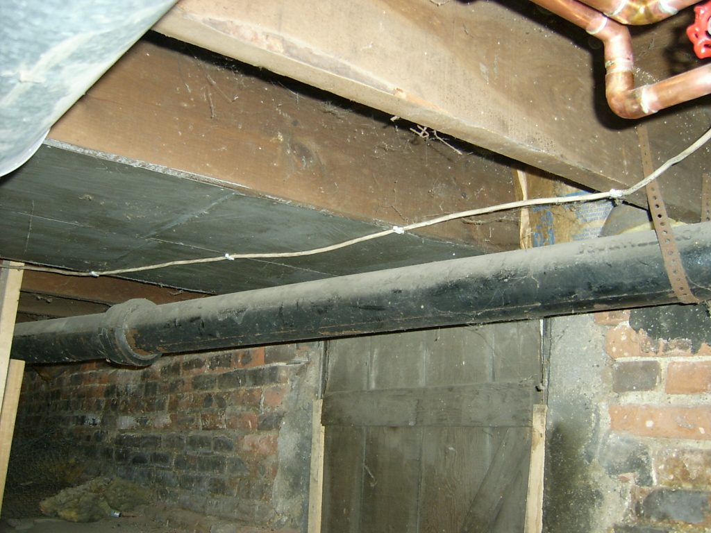 basement plumbing preparation for new drain pipes our old