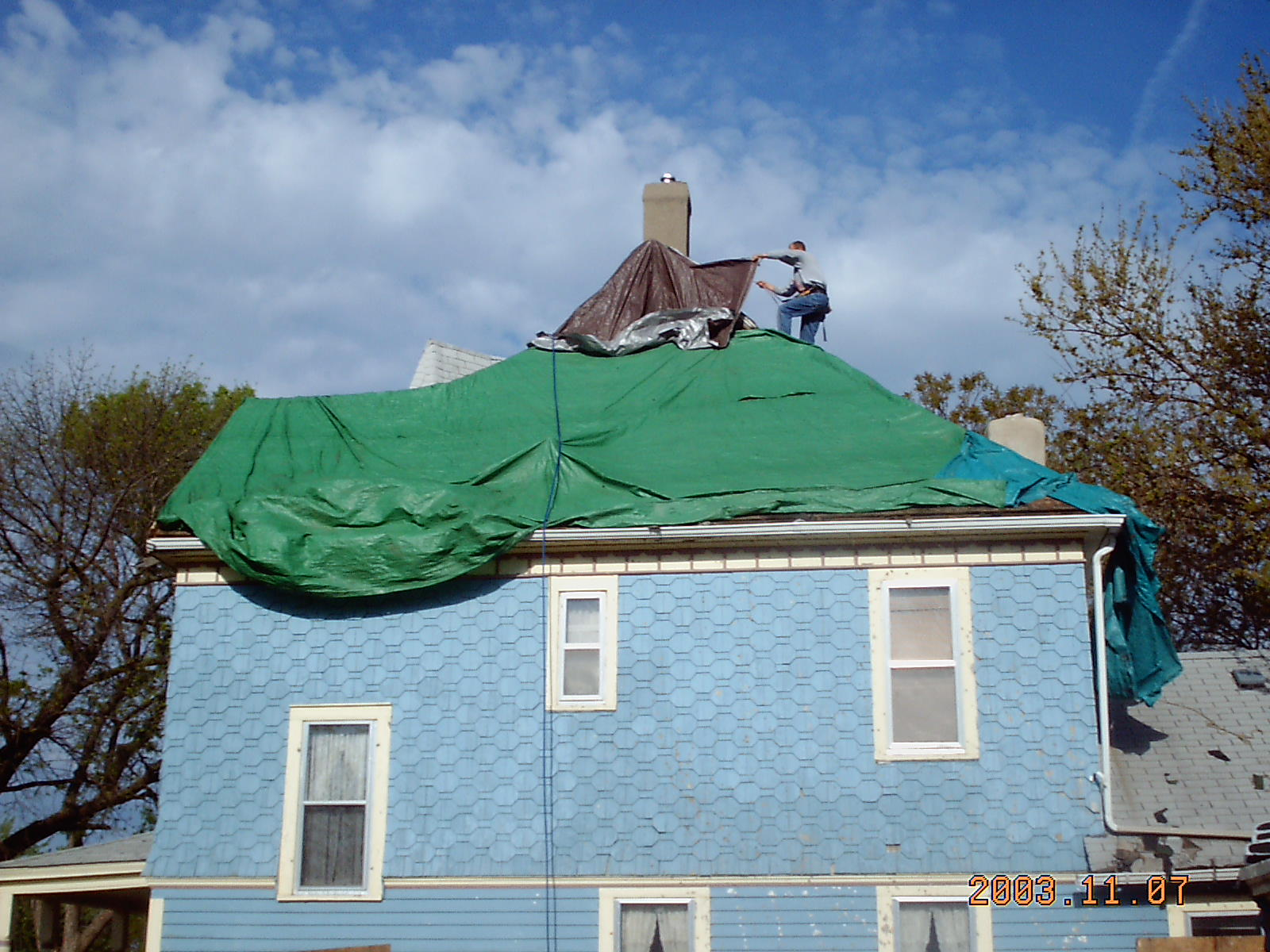 Main house roof roofing felt installation our old for Classic house 2003