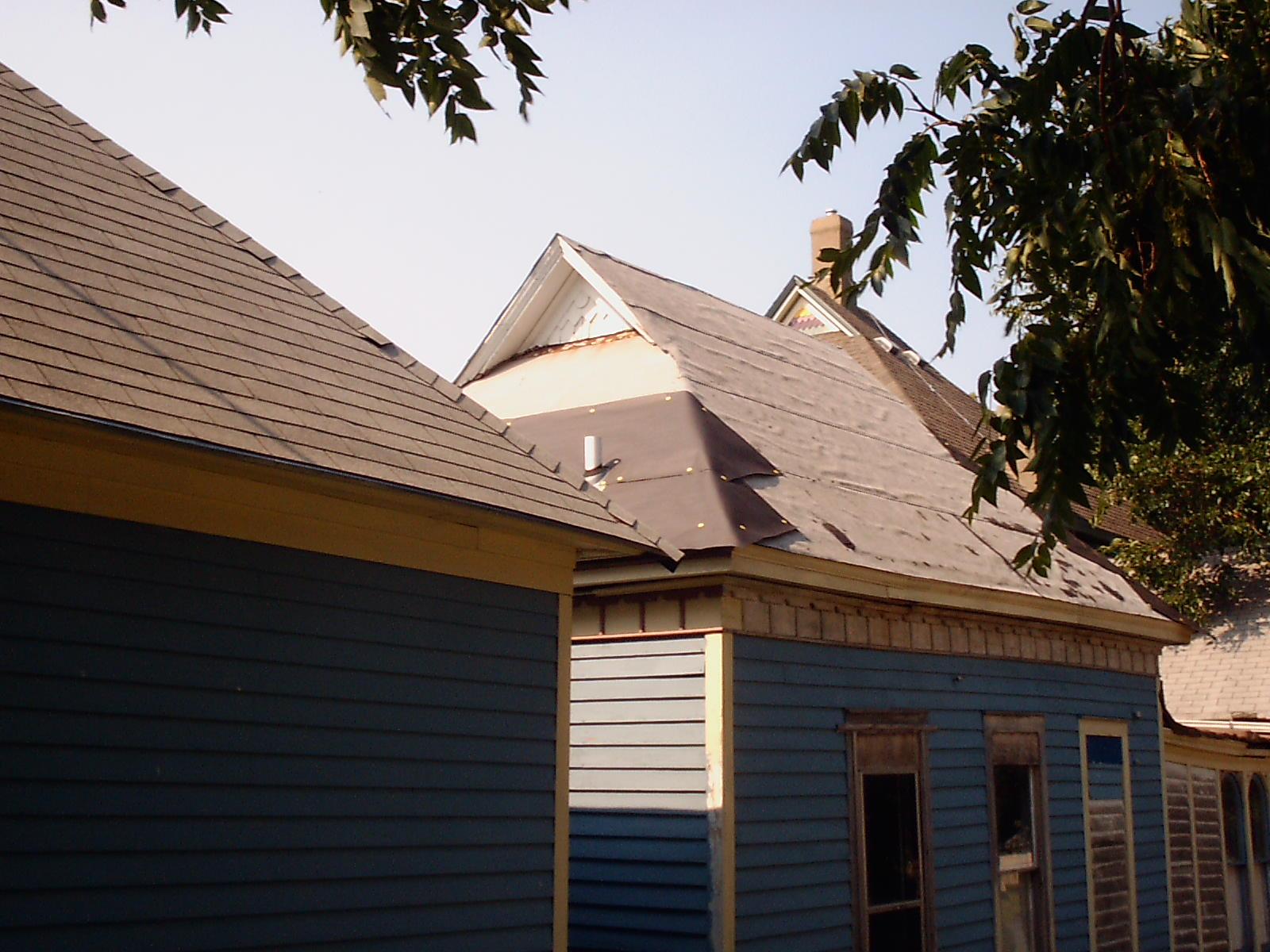 Servant Quarters Roof Quick Fix 1 Our Old Victorian