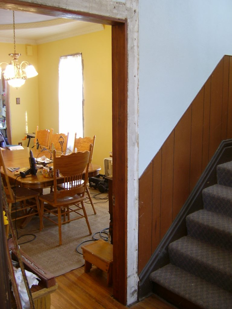 Victorian Foyer News : Foyer door frame removal our old victorian
