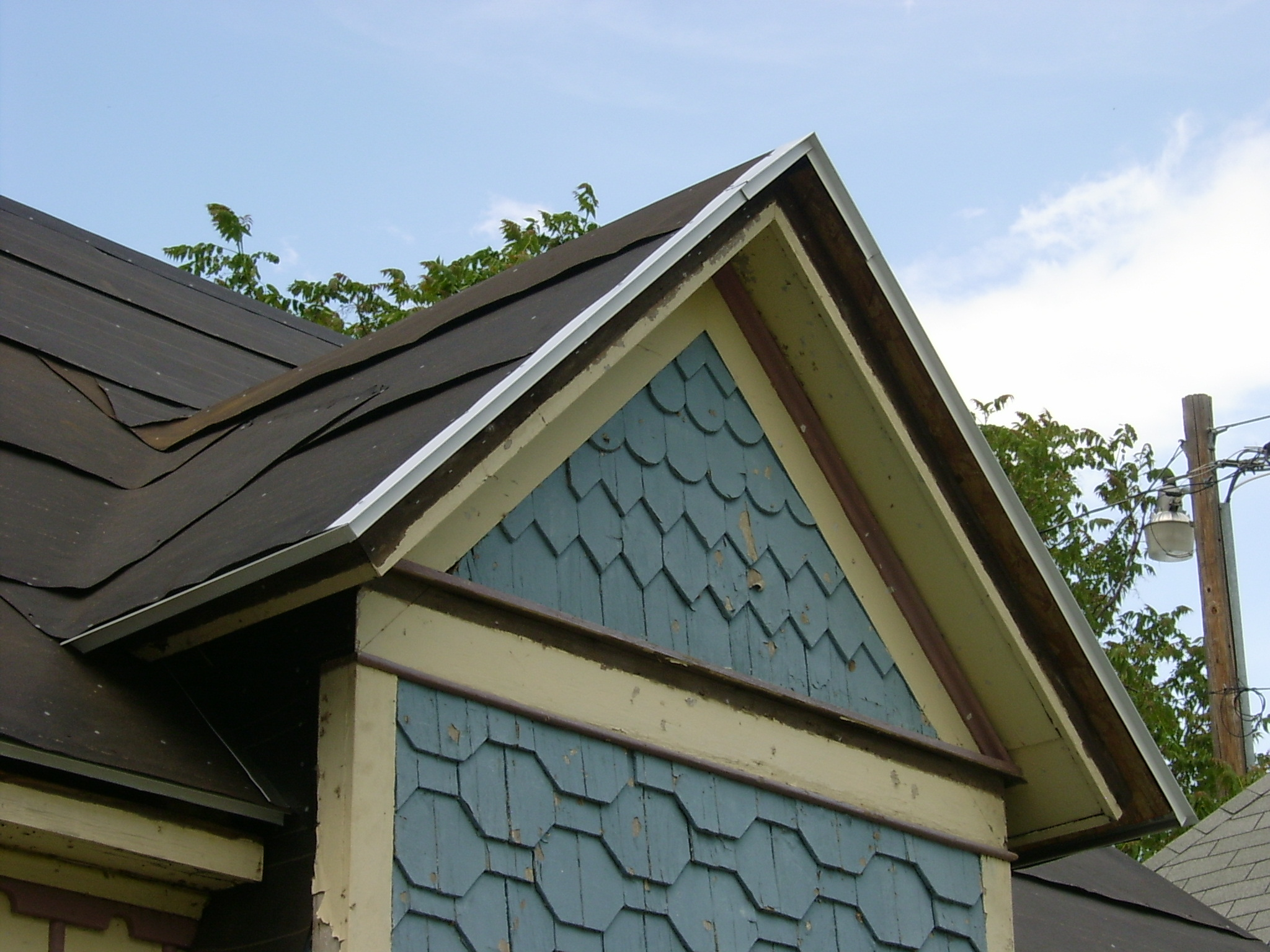 Servant Quarters Roof – New Drip Edge and Roofing Felt - Our